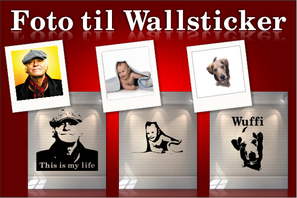 lav din egen wallsticker / wall art - design din egen w
